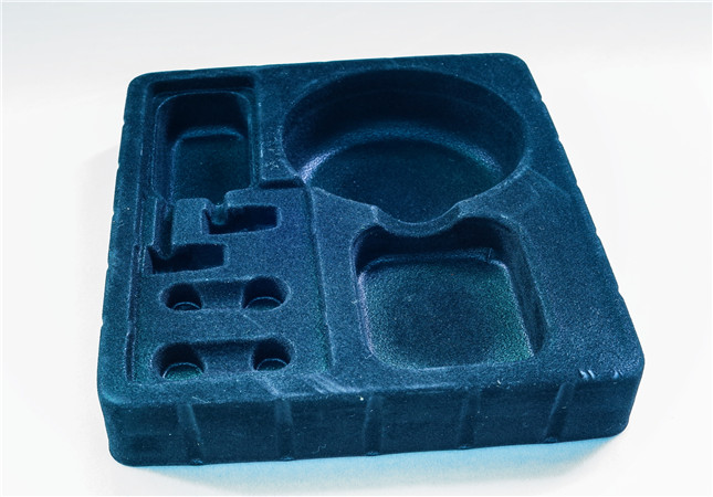flocking plastic blister tray